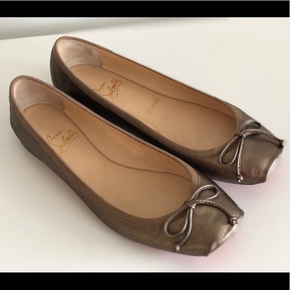c1e1eedc74c Christian Louboutin Shoes - CHRISTIAN LOUBOUTIN ROSELLA METALLIC BALLET  FLATS